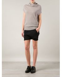 Rick Owens | Gray 'Crater' Knit Top | Lyst