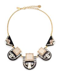 Kate Spade | Metallic Imperial Tile Bib Necklace | Lyst