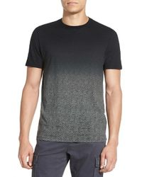 Vince | Black Ombre Herringbone Crew-Neck T-shirt for Men | Lyst