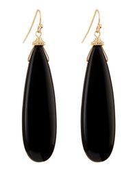 Panacea - Oblong Drop Earrings Black - Lyst