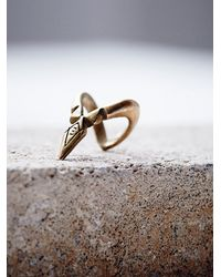Free People | Metallic Coyote V Ring | Lyst