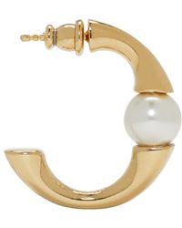 Chloé - Metallic Gold Open Hoop Darcey Earrings - Lyst