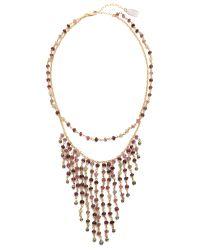 Ela Rae - Red Double Fringe Necklace - Ruby - Lyst