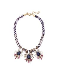 J.Crew - Red Persian Leaves Necklace - Lyst