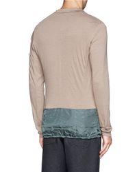 Kolor - Natural Contrast Hem Cardigan Blazer for Men - Lyst
