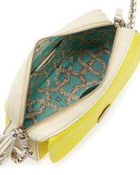 Eric Javits | Yellow Snake-Print Zip-Top Shoulder Bag | Lyst