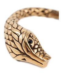 Saint Laurent - Metallic Serpent Bracelet - Lyst