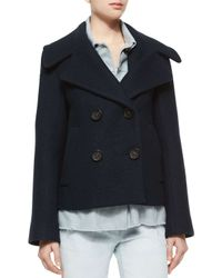 3.1 Phillip Lim - Black Trompe L'oeil Denim Double-breasted Wool Jacket - Lyst