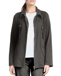 Eileen Fisher - Gray Organic Drawstring Jacket - Lyst