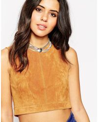 ASOS - Metallic Multi Chain And Circle Choker Necklace - Lyst