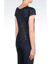 Armani - Blue Print T-shirt - Lyst