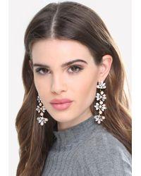 Bebe | Multicolor Floral Linear Earrings | Lyst
