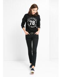 Mango - Black Texture Sweatshirt for Men - Lyst