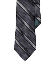 Lauren by Ralph Lauren | Black Striped Chevron Silk Tie for Men | Lyst