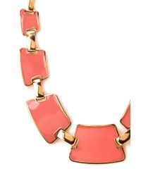 Forever 21 | Orange Flat Lacquered Bib Necklace | Lyst