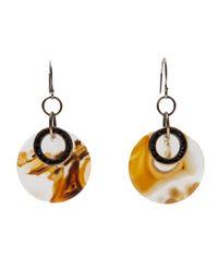 Beth Orduna - Orange Agate Slice Earring - Lyst