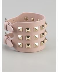 Valentino - Pink Studded Bracelet - Lyst