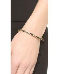 Shashi - Metallic Sasha Bracelet - Gold/black - Lyst