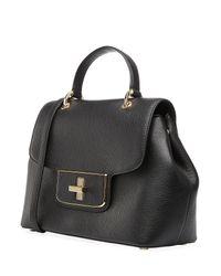 MICHAEL Michael Kors - Emery Medium Leather Shoulder Bag - Black - Lyst