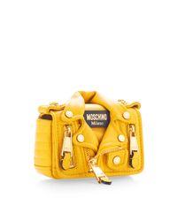 Moschino | Mini Biker Bag Yellow | Lyst
