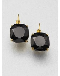 kate spade new york - Metallic Faceted Square Drop Earrings - Lyst