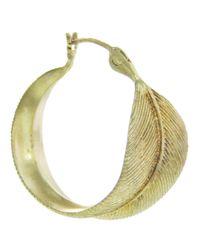 Annette Ferdinandsen | Metallic Feather Hoop Earring | Lyst