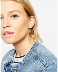 ASOS | Metallic Limited Edition Square Through Earrings | Lyst