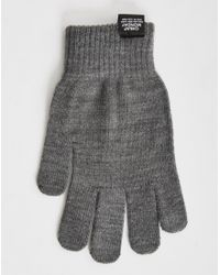 Cheap Monday | Gray Cm Magic Gloves Grey Melange for Men | Lyst