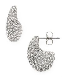 Nadri | Metallic Pave Small J Earrings | Lyst