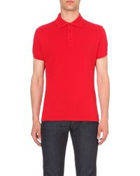 Armani Jeans | Red Slim-fit Cotton-piqué Polo Shirt for Men | Lyst