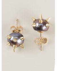 Nektar De Stagni | Purple Spiked Pearl Earrings | Lyst