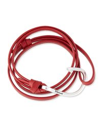 Miansai - Red Hook Leather Bracelet - Lyst