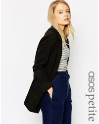ASOS - Black Petite Ultimate Slim Coat - Lyst