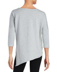 Betsey Johnson   Gray Asymmetrical Sweatshirt   Lyst
