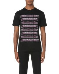 Lanvin - Black Printed Cotton-jersey T-shirt for Men - Lyst