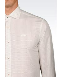 Armani Jeans | White Shirt In Cotton Poplin for Men | Lyst
