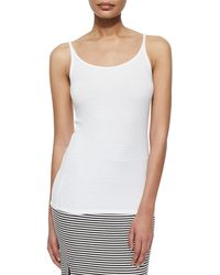 ATM | White Long Slim Ribbed Cami | Lyst