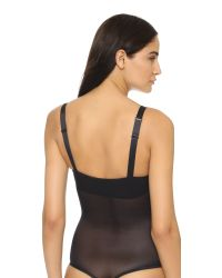 Wolford | Black Sheer Touch String Bodysuit | Lyst