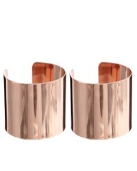 River Island | Metallic Clean Rose Gold Cuffs | Lyst