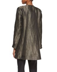 Eileen Fisher - Green Long-sleeve Herringbone Swing Jacket - Lyst