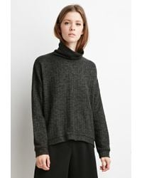 Forever 21 | Green Marled Knit Turtleneck Sweater You've Been Added To The Waitlist | Lyst