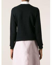 KENZO - Black Fish Embroidery Sweatshirt - Lyst