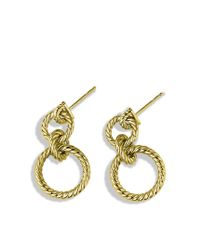 David Yurman - Metallic Cable Doorknocker Earrings in Gold - Lyst
