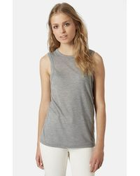 TOPSHOP | Gray High Neck Tank | Lyst