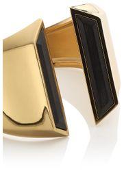 Maiyet | Black Gold Horn Sculptural Hinged Bangle | Lyst