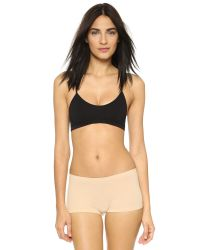 Free People - Black Baby Racer Back Bra - Lyst