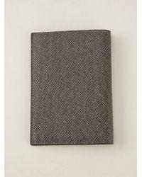 Giorgio Armani - Gray Coat Wallet - Lyst