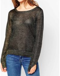 Vero Moda   Red Light Knit Long Sleeve Sweater   Lyst