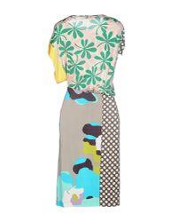 Pianurastudio - Green Knee-length Dress - Lyst
