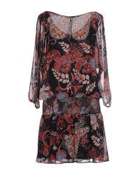 Soallure - Black Short Dress - Lyst